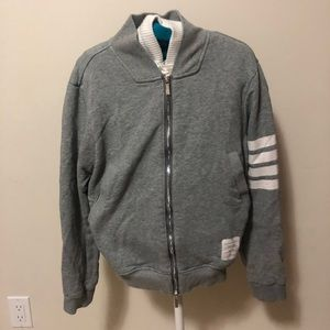 Thom Browne Womens Zip Up Sweater